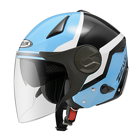 ZEUS 瑞獅 半罩式安全帽 ZS-612A AD9 藍白