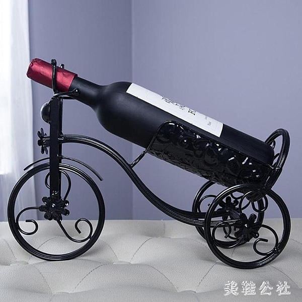 葡萄酒架客廳裝飾 創意家居酒柜擺設鐵藝展示架 歐式復古紅酒架擺件 CJ4718『美鞋公社』