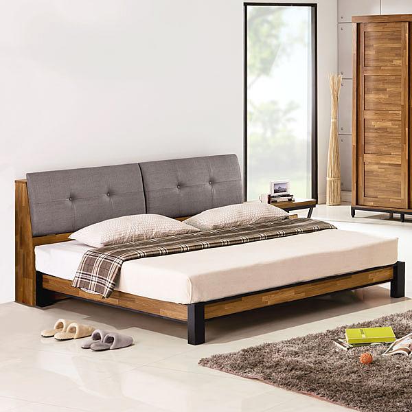 YoStyle 亞瑟工業風床架組(含床頭箱)-雙人5尺 雙人床 床組 房間組 工業風 專人配送