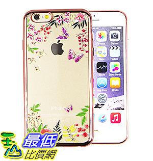 [美國直購] 手機殼 iPhone 6/6S Plus phone case ( Purple Butterfly & Litter Flowers[Rose] )