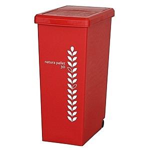 【this-this】滑蓋式垃圾桶30L-紅色