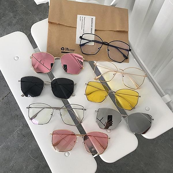 韓系蝶形方框太陽鏡不規則近視墨鏡男女眼鏡潮流