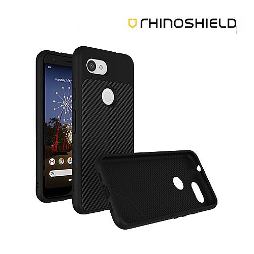犀牛盾 SolidSuit 防摔手機殼 Google Pixel 3a 3a XL 碳纖維 黑色 保護殼 邊框背蓋殼