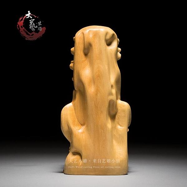 樂清黃楊木雕居家辦公室風水佛像擺件雕刻工藝品迦牟尼佛靠山如來