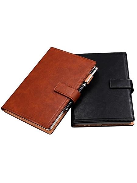 商務筆記本文具a5本子日記本簡約大學生皮面帶扣大號硬皮會議記錄本辦公用品工作加厚 滿天星