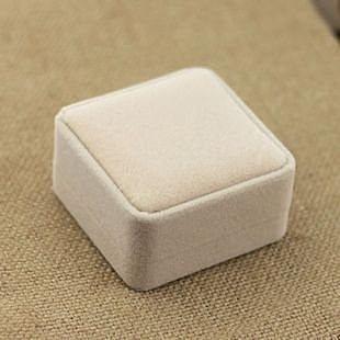 淺色高檔絨布包裝盒