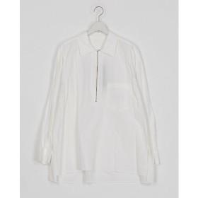 <URU/ウル> ハーフジップシャツ WHITE【三越・伊勢丹/公式】