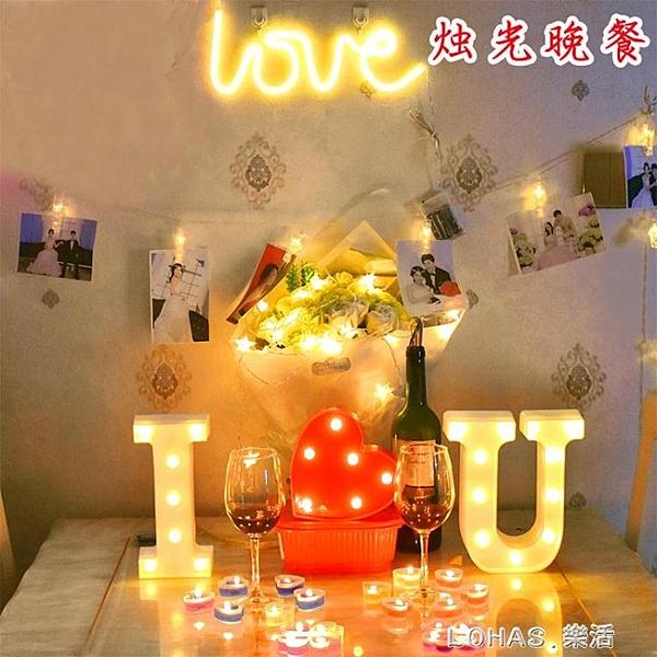 燭光晚餐心形果凍無煙蠟燭浪漫生日表白求婚布置創意用品新年道具 樂活生活館