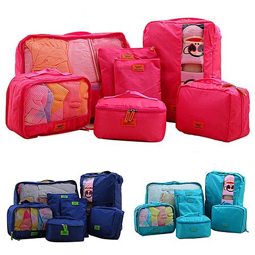 【Love Shop】A34旅行衣物收納七件組 行李箱 旅行收納袋 包中包 收納袋 內衣收納 收納包 收納袋