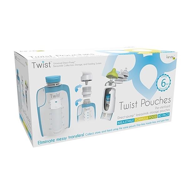 美國Kiinde Twist 180cc(80入) 多功能母乳儲存袋 1盒