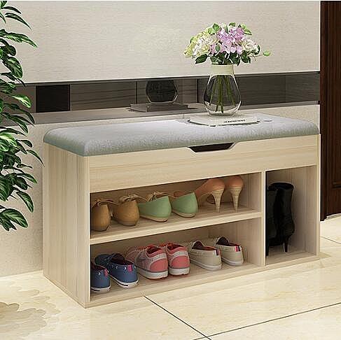 換鞋凳鞋櫃儲物凳創意穿鞋凳沙發凳鞋凳式鞋櫃穿鞋凳鞋架  wy 快速出貨