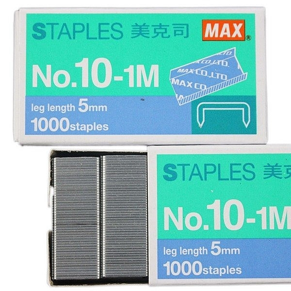 MAX 美克司 10號釘書針 NO.10-1M/一盒20小盒入(定10) 10號訂書針
