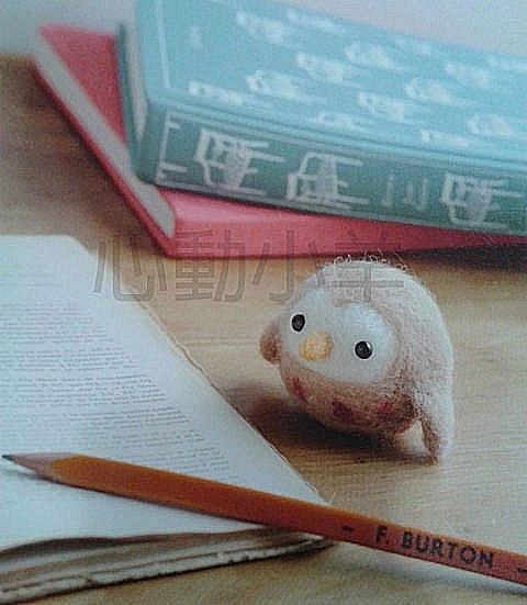 心動小羊^^貓頭鷹--美麗諾羊毛羊毛氈材料包