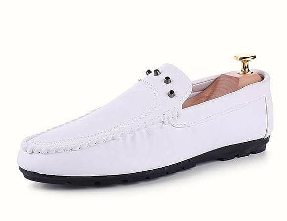 韓國  皮革懶人 豆豆鞋  懶人  鉚釘設計  鞋