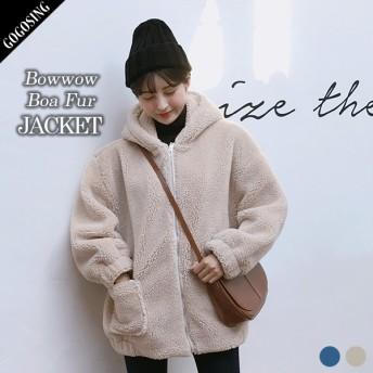 【GOGOSING】ワンワンボア毛フードジャケット★レディースアウター レディースジャケット 冬 新作 韓国 ファッション p000cuie