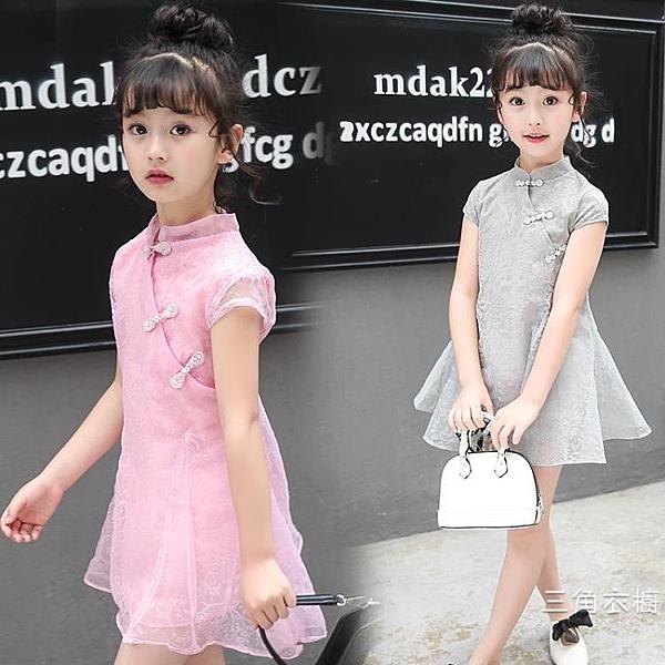 旗袍中大童洋裝民族風春夏薄款仙女同款時尚洋氣復古唐裝旗袍女童裙