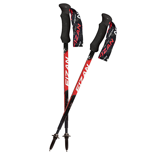 [好也戶外] FIZAN 超輕四節式健行登山杖2入特惠組/紅 No.FZS19.7105.R