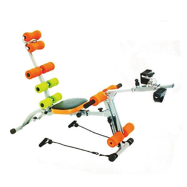 全方位十功能 腰腹健身機 健美機 HY-29968(送手指按摩器*2)腳踏健身車 健美擴胸 拉力繩 舉重訓練機