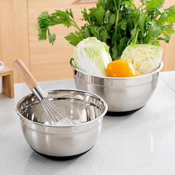 [超豐國際]不銹鋼加厚打蛋盆加深洗菜盆湯盆 硅膠底防滑和面盆調料