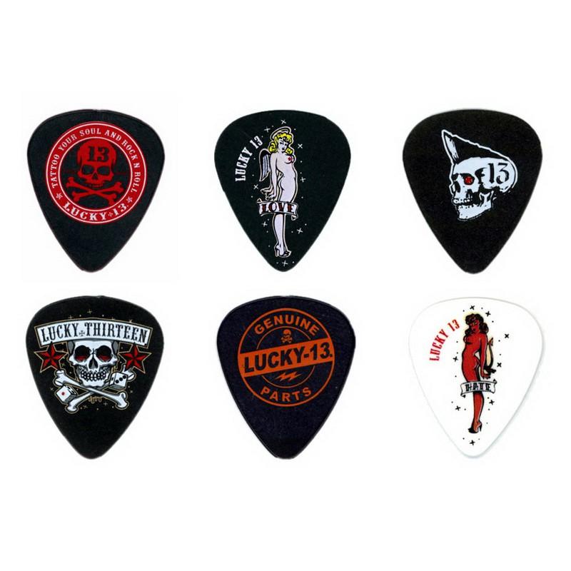 DUNLOP Lucky 13 木吉他/烏克麗麗/電吉他/電貝斯 PICK 彈片 [唐尼樂器]