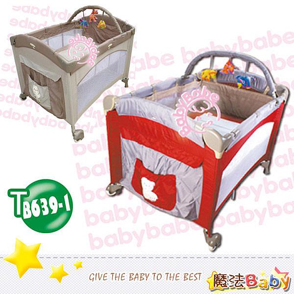 拱型遊戲床(半配)_紅.卡其兩色款 嬰幼兒用品 嬰幼兒遊戲床 魔法Baby