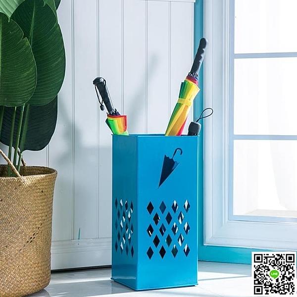 家用門廳雨傘收納桶 歐式鐵藝落地式簡約多功能雨傘架 創意收納架 mks免運 生活主義