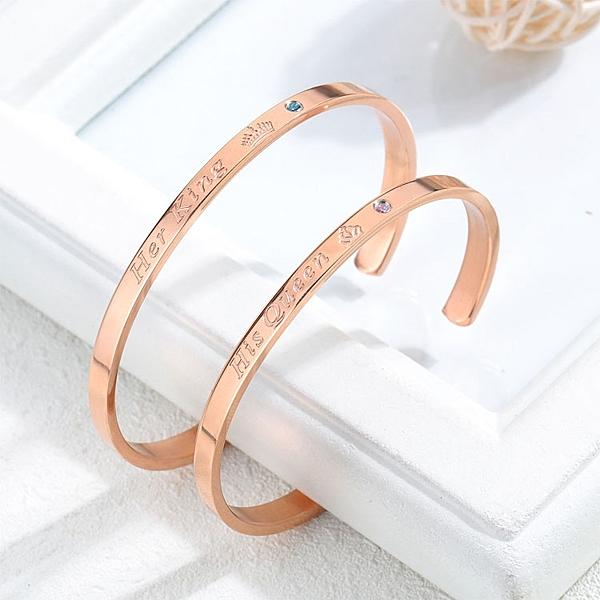【5折超值價】時尚精緻美式簡約字母造型情侶款鈦鋼手環
