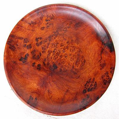 直徑24厘米 花梨木樹瘤盤子28號