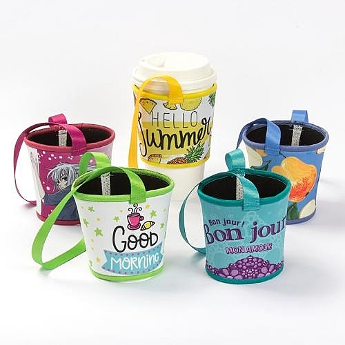 【300個含彩色印刷】 超聯捷 寬版潛水布杯袋飲料杯提袋 客製 宣導品 禮贈品 S1-37013A-300