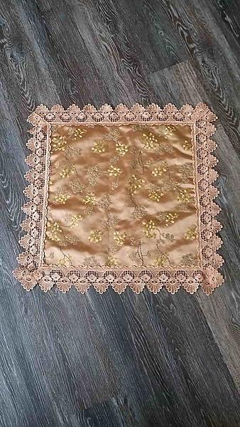 絲質繡花布沙發巾~60公分*60公分