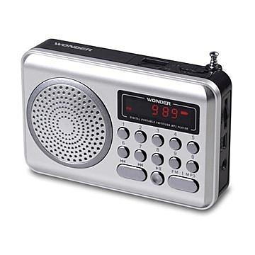 ^聖家^旺德USB/MP3/FM 隨身音響~銀色 WS-P006 【全館刷卡分期+免運費】