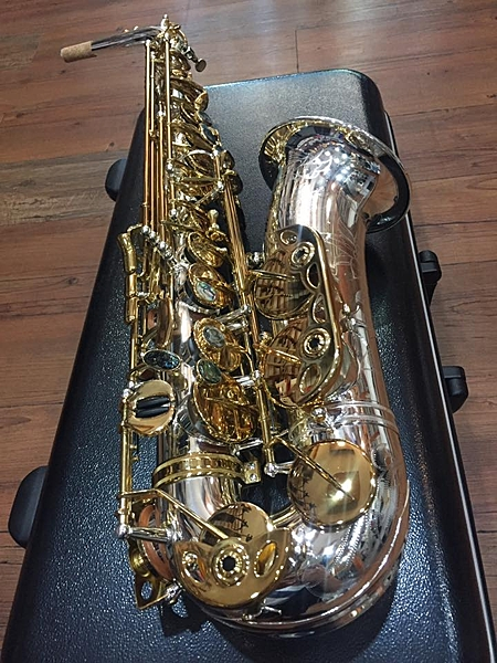 凱傑樂器 G1 AITO SAX 中音  薩克斯風 管身銀按鍵金