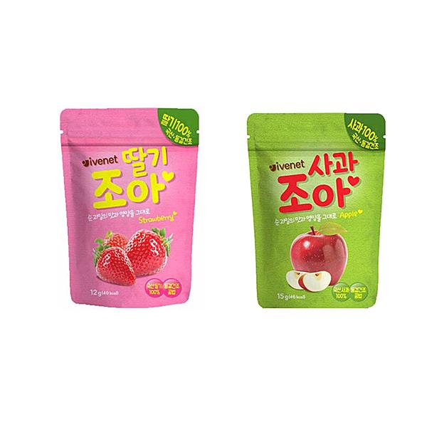 韓國 IVENET 艾唯倪水果果片.果乾(草莓/蘋果) /脆片.零食.副食品