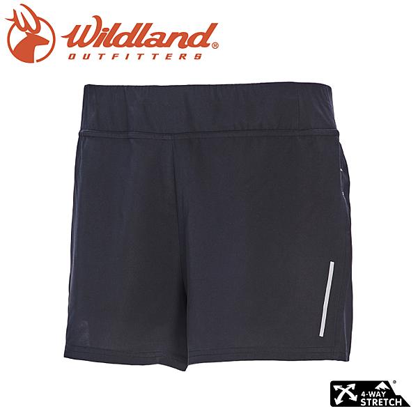 【Wildland 荒野 女 透氣抗UV假兩件運動短褲《深霧灰》】0A71391/慢跑褲/球褲/抗UV/輕薄透氣/吸濕快乾