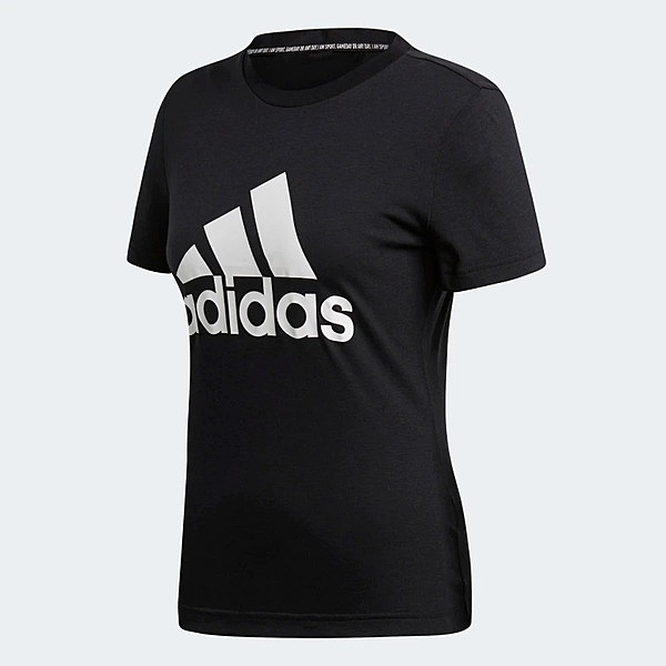 Adidas W MH BOS TEE [DY7732] 女 運動 休閒 圓領 短袖 上衣 舒適 棉T 愛迪達 黑