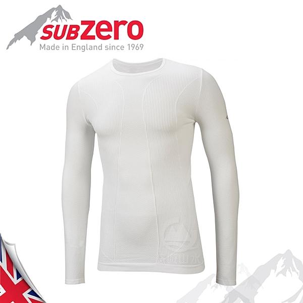 【Sub Zero 英國 Factor1+ 長袖無縫排汗衣《白》】Factor 1 PLUS/內衣/薄長袖/防曬