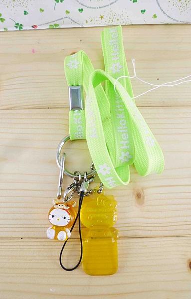 【震撼精品百貨】Hello Kitty 凱蒂貓~造型手機掛繩-豬造型-綠色繩子