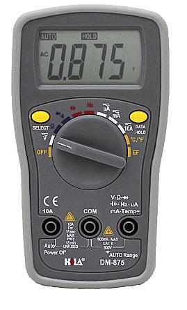 【中將3C】HILA海碁多功能自動換檔電錶   .DM-875