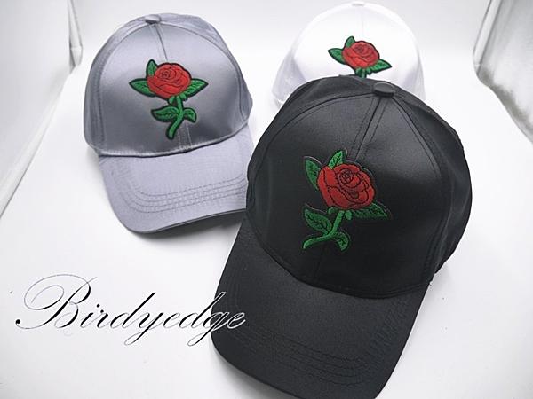玫瑰 示愛 老帽 緞面 綢緞 帽子 花 刺繡 高品質 日系 帽子 ps 送禮 母