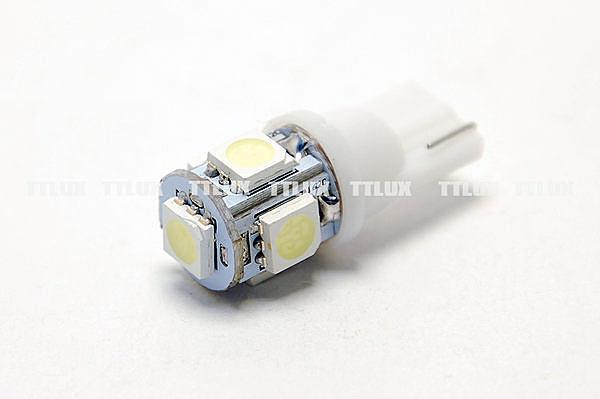 T10 5SMD 只有白光 (保固1個月)