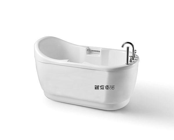 【麗室衛浴】BATHTUB WORLD  潔白造形獨立缸  QQ802  120*75*80mm