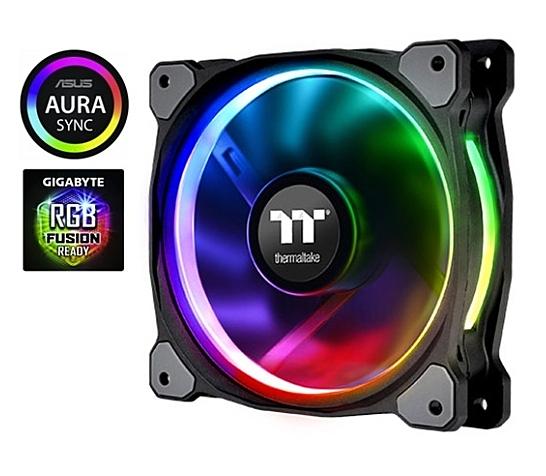 【超人百貨F】曜越 Riing Plus H14 RGB水冷排風扇 (三顆風扇包裝) CL-F061-PL14SW-A