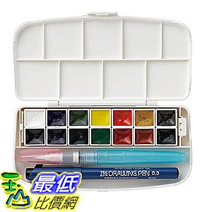[106東京直購] 日本吳竹 透明水彩套組 14色 KG301-1 附水毛筆 製圖筆