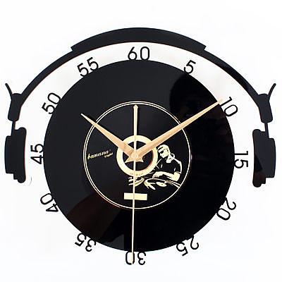 音樂空間立體黑膠CD唱片掛鐘(音樂人)