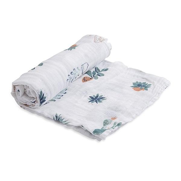 美國Little Unicorn純棉紗布巾單入組 多肉植物