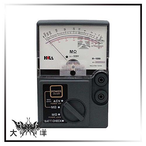 ◤大洋國際電子◢ 海碁HILA M-1000 500V高阻計 學生實驗 工廠 直流 交流 電壓