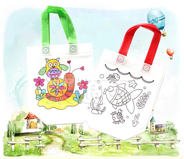 【塗鴉包】DIY不織布塗鴉包 幼稚園美勞課 美術課 MD4274