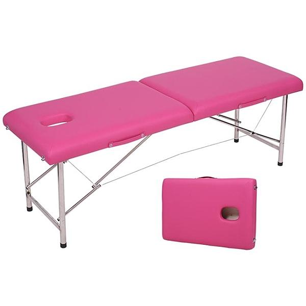 玫之藍摺疊便攜式原始點按摩床家用紋繡身美容床手提  ATF  全館鉅惠
