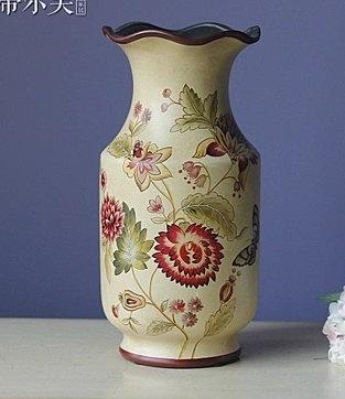 【協貿國際】皇室蝶緣荷口裝飾花瓶擺件
