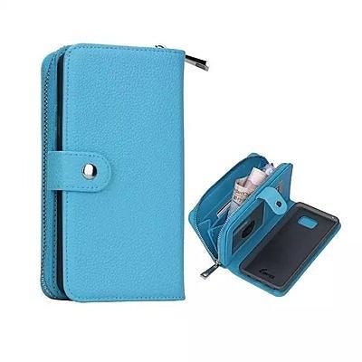 S8 Plus 荔枝紋分體手機殼SamSung note8 錢包式多功能插卡保護套三星 S8 時簡約純色手機套